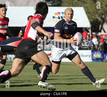Matt Hawkins of the USA at a public appearance for The 2011 USA Sevens Rugby Tournament and Fan Festival - Day 2, - Stock Photo