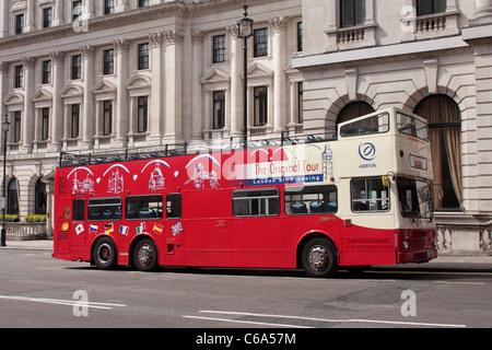 London open top city tour bus - Stock Photo