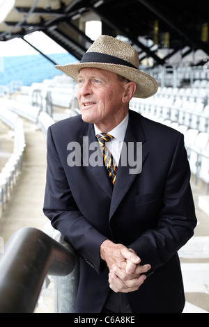 Geoffrey Boycott pictured at Yorkshire County Cricket Club, 19th October 2010 - Stock Photo