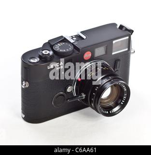 Leica M6 TTL Rangefinder RF 35mm Film Camera with Classic 50mm Summicron f2 Lens Black - Stock Photo