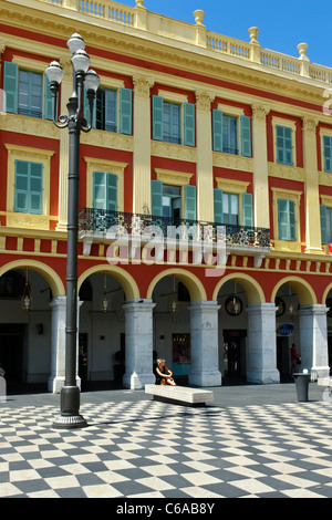 France, French Reviera, Nice, Place Massena, - Stock Photo