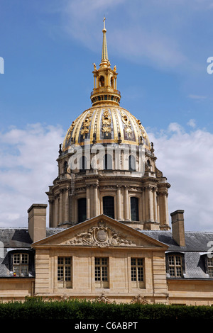 Dome of Les Invalides in Paris, France - Stock Photo
