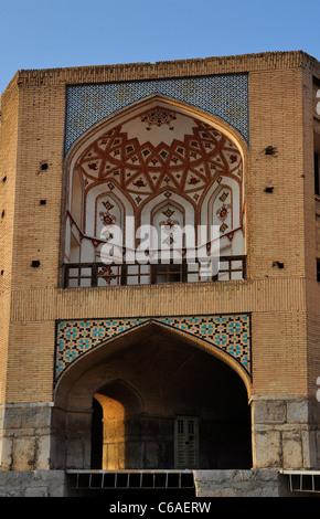 The details of Khaju Bridge, Isfahan Iran. - Stock Photo