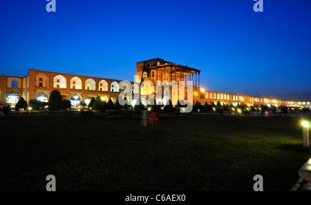 Ali Qapu Palace, located in Nagsh i Jahan Square, Isfahan Iran. - Stock Photo