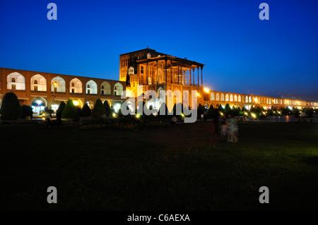 Ali Qapu Palace, located in Nagsh e Jahan Square, Isfahan Iran. - Stock Photo