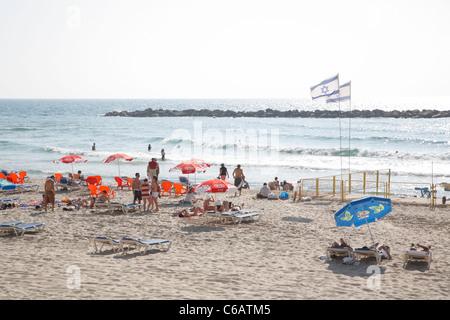 Beach, Tel Aviv, Israel - Stock Photo