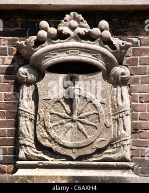 Church Eglise Wallone Breestraat Waalsekerk Leiden Netherlands Holland - Stock Photo