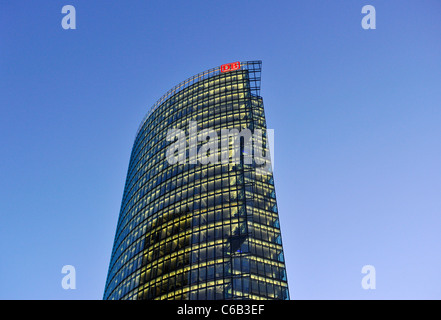 Potsdamer Platz square, in the early morning twilight, Mitte district, Berlin, Germany, Europe - Stock Photo