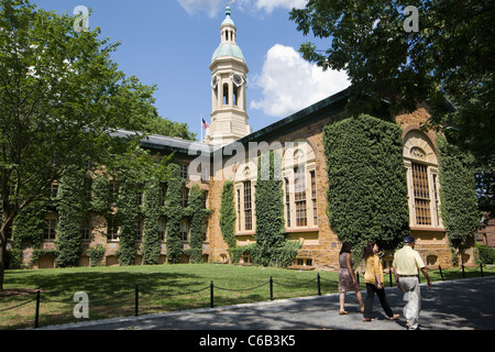Ivy-covered Nassau Hall, 1756, Princeton University, New Jersey - Stock Photo