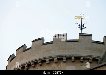 The wind vane on top of the Temple Chapel. London. - Stock Photo