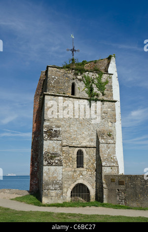 Old St. Helens church tower. Remains of a Saxon Church. Isle of Wight - Stock Photo