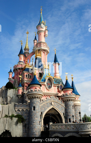 Sleeping Beauty Castle. Fantasyland, Disneyland, Paris, France. - Stock Photo