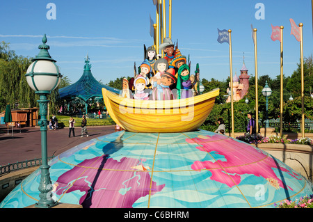 It´s a Small World Attraction. Fantasyland, Disneyland Paris. - Stock Photo
