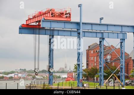 Preston Marina in the old docks, Lancashire, UK. - Stock Photo