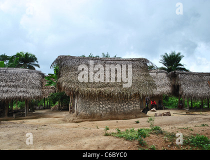 Small village near Gbarnga, Liberia, West Africa - Stock Photo