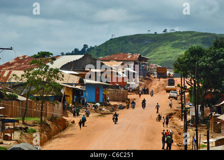 Voinjama, Lofa County, Liberia - Stock Photo