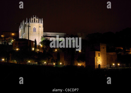 Toledo Kloster Nacht - Toledo monastery night 02 - Stock Photo