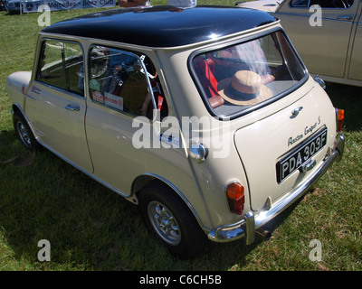 Austin Mini Cooper S a British Icon a trip into 1967 taken last year at a car show in the Yorkshire Dales - Stock Photo