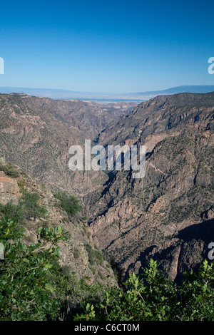 black canyon of gunnison national park welcome sign stock
