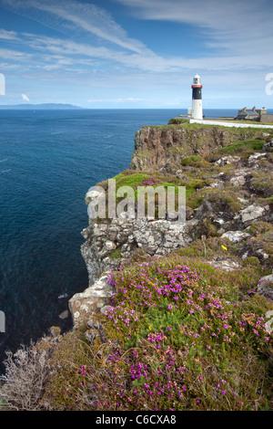 East Lighthouse of Rathlin Island, Northern Ireland - Stock Photo