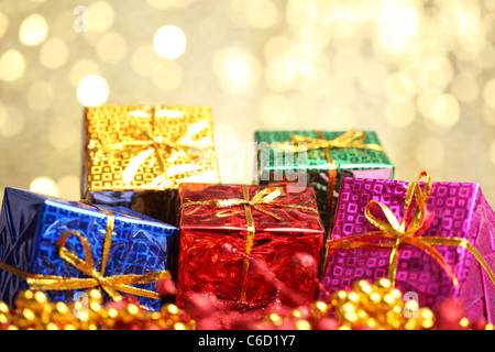 Closeup of christmas gifts - Stock Photo