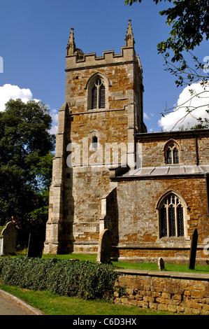 St. Thomas a Becket Church, Skeffington, Leicestershire, England, UK - Stock Photo