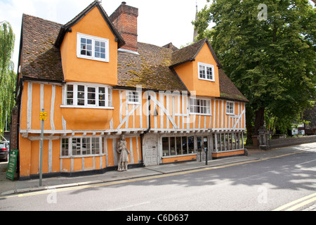 Tudor half-timbered building in the County Town of Hertford - Stock Photo