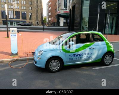 Electric Car Charging Station Of Rwe Electric Car