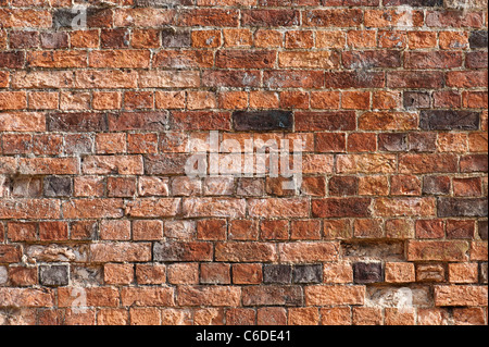 Old garden brick wall - Stock Photo
