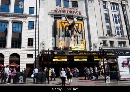 Dominion Theatre, home of We Will Rock You, Tottenham Court Road, London, England, UK - Stock Photo