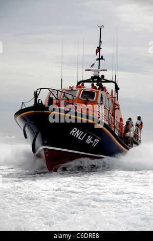 Bembridge Lifeboat on exercise in the Solent - Stock Photo