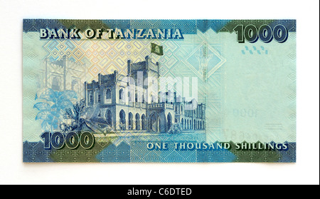 Tanzania 1000 One Thousand Shilling Bank Note. - Stock Photo