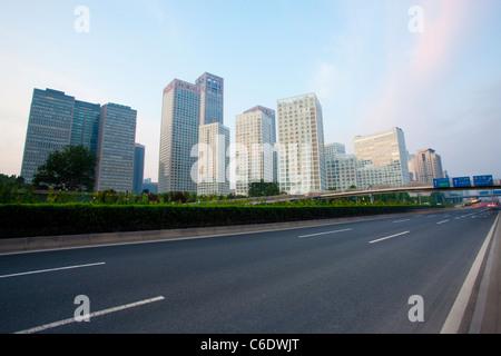 Highway in Beijing, China - Stock Photo