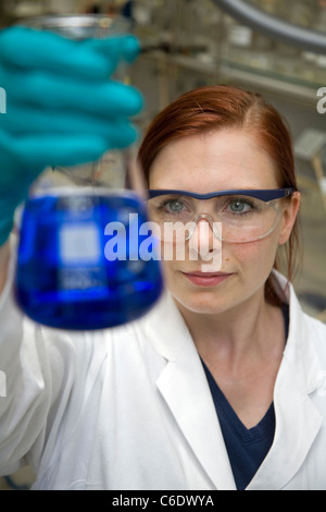 Chemistry lab assistant, Muelheim an der Ruhr, Germany - Stock Photo