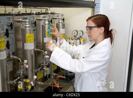 Chemistry lab assistant, Muelheim an der Ruhr, Germany - Stock Photo