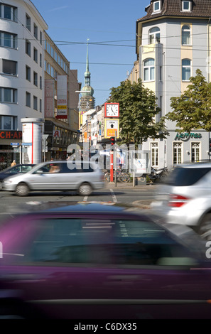 Traffic in the environmental zone Ruhrgebiet, Dortmund, Germany - Stock Photo