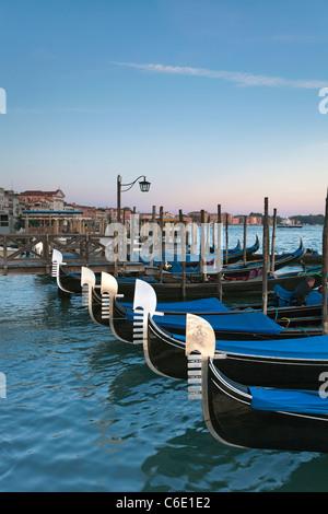 Quay at St Mark's Square with Gondolas, Venice, Italy, Europe - Stock Photo