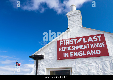 Refreshment house at Land's End. - Stock Photo