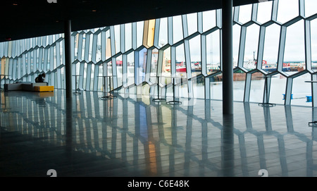 Harpa Concert Hall and Conference Center Reykjavik Iceland - Stock Photo