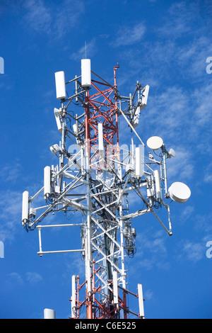 USA, New York State, New York City, telecommunications tower - Stock Photo