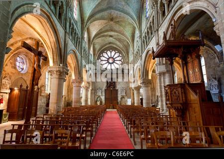 Europe, France, Val-d'oise (95), Auvers-sur-Oise Church - Stock Photo
