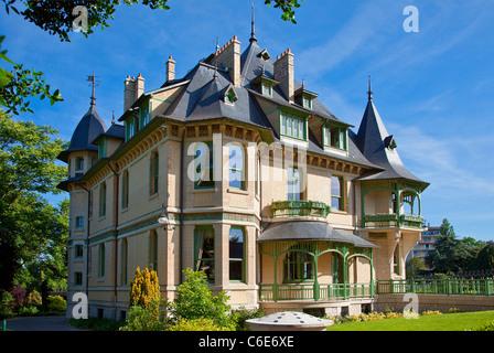 Europe, France, Marne,  Reims, Villa Demoiselle - Stock Photo