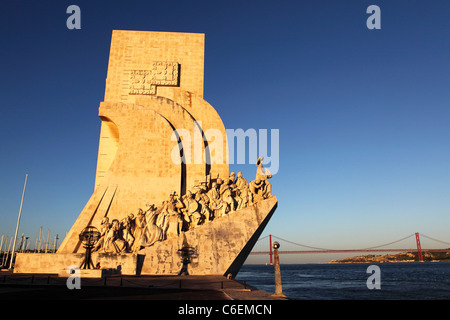 The Monument to the Discoveries (Padrao dos Descobrimentos) in Belem, Lisbon, Portugal. - Stock Photo
