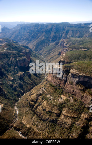 Aerial view of Copper Canyon in Chihuahua, Mexico - Stock Photo