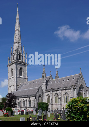 St Margaret's Church, Bodelwyddan, North Wales. Know locally as The Marble Church. - Stock Photo