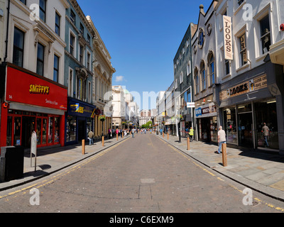 Bold Street, Liverpool - looking towards Church Street and the city centre. - Stock Photo