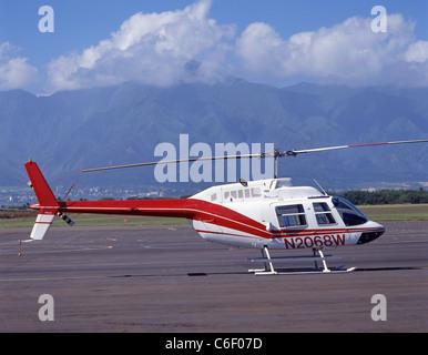 Maui sightseeing helicopter, Maui, Hawaii, United States of America - Stock Photo