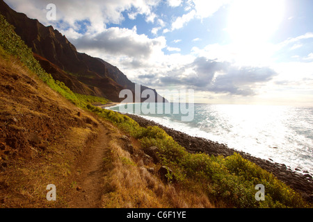 Napali Coast, Kauai, Hawaii - Stock Photo