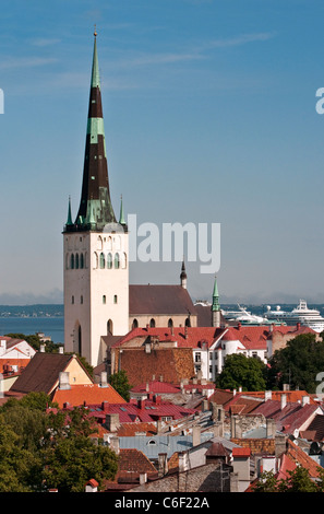 St. Olaf's Church in Tallinn, Estonia - Stock Photo
