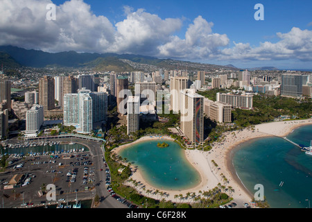 Hilton Hawaiian Village, Waikiki, Honolulu, Oahu, Hawaii - Stock Photo